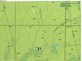 Reduced fragment of topographic map en--tpc--500k--n26-d--(1993)--S012-00_W069-00--S016-00_W063-00 in area of Laguna Rogaguado, Laguna Rogagua, Laguna San Luis; towns and cities Trinidad, Lomita, Aten, Pogije