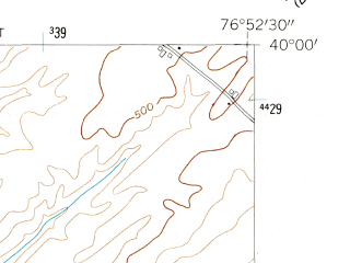 Reduced fragment of topographic map en--usgs--024k--000043--(1953)--N040-00-00_W077-00-00--N039-52-30_W076-52-30; towns and cities Abbottstown, East Berlin