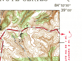Reduced fragment of topographic map en--usgs--024k--000051--(1943)--N039-00-00_W085-00-00--N038-52-30_W084-52-30
