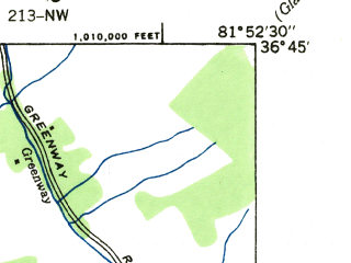 Reduced fragment of topographic map en--usgs--024k--000072--(1935)--N036-45-00_W082-00-00--N036-37-30_W081-52-30; towns and cities Abingdon