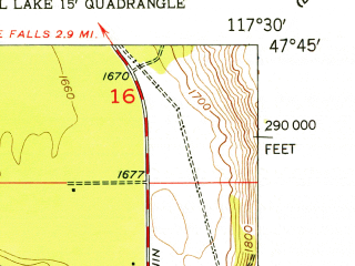 Reduced fragment of topographic map en--usgs--024k--000315--(1954)--N047-45-00_W117-37-30--N047-37-30_W117-30-00; towns and cities Airway Heights