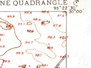 Reduced fragment of topographic map en--usgs--024k--000477--(1916)--N030-00-00_W095-30-00--N029-52-30_W095-22-30; towns and cities Aldine