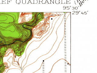 Reduced fragment of topographic map en--usgs--024k--000550--(1915)--N029-45-00_W095-37-30--N029-37-30_W095-30-00; towns and cities Meadows