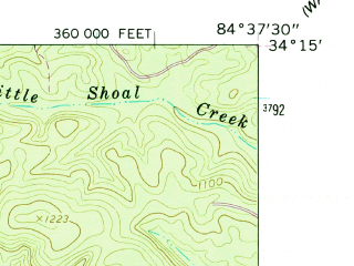 Reduced fragment of topographic map en--usgs--024k--000584--(1961)--N034-15-00_W084-45-00--N034-07-30_W084-37-30; towns and cities Emerson