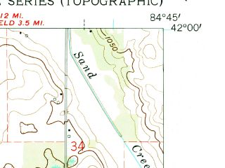 Reduced fragment of topographic map en--usgs--024k--000594--(1960)--N042-00-00_W084-52-30--N041-52-30_W084-45-00; towns and cities Allen
