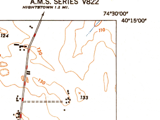 Reduced fragment of topographic map en--usgs--024k--000623--(1948)--N040-15-00_W074-37-30--N040-07-30_W074-30-00; towns and cities Allentown