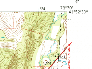 Reduced fragment of topographic map en--usgs--024k--000852--(1958)--N041-52-30_W073-37-30--N041-45-00_W073-30-00; towns and cities Amenia