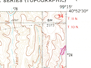 Reduced fragment of topographic map en--usgs--024k--000871--(1961)--N040-52-30_W099-22-30--N040-45-00_W099-15-00; towns and cities Amherst