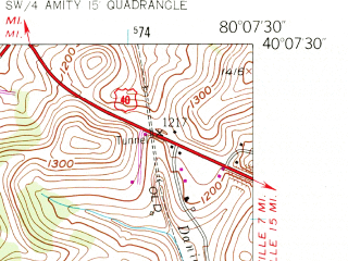 Reduced fragment of topographic map en--usgs--024k--000888--(1954)--N040-07-30_W080-15-00--N040-00-00_W080-07-30