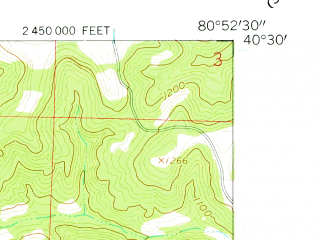 Reduced fragment of topographic map en--usgs--024k--000907--(1960)--N040-30-00_W081-00-00--N040-22-30_W080-52-30; towns and cities Amsterdam