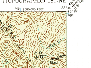 Reduced fragment of topographic map en--usgs--024k--001014--(1938)--N035-15-00_W083-52-30--N035-07-30_W083-45-00; towns and cities Andrews