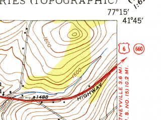 Reduced fragment of topographic map en--usgs--024k--001222--(1948)--N041-45-00_W077-22-30--N041-37-30_W077-15-00; towns and cities Wellsboro