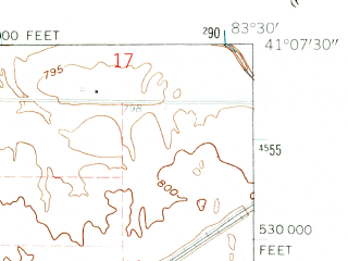 Reduced fragment of topographic map en--usgs--024k--001332--(1960)--N041-07-30_W083-37-30--N041-00-00_W083-30-00 in area of Findley Reservoir; towns and cities Arcadia