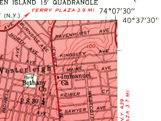 Reduced fragment of topographic map en--usgs--024k--001582--(1955)--N040-37-30_W074-15-00--N040-30-00_W074-07-30; towns and cities Linden, Carteret, Port Reading