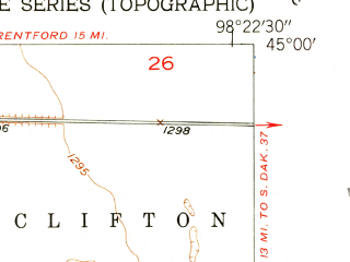 Reduced fragment of topographic map en--usgs--024k--001693--(1953)--N045-00-00_W098-30-00--N044-52-30_W098-22-30; towns and cities Ashton