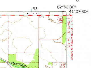 Reduced fragment of topographic map en--usgs--024k--001791--(1960)--N041-07-30_W083-00-00--N041-00-00_W082-52-30; towns and cities Attica