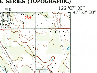 Reduced fragment of topographic map en--usgs--024k--001822--(1949)--N047-22-30_W122-15-00--N047-15-00_W122-07-30; towns and cities Auburn, Lea Hill, Pacific