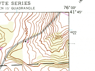 Reduced fragment of topographic map en--usgs--024k--001834--(1945)--N041-45-00_W076-07-30--N041-37-30_W076-00-00