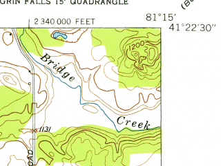 Reduced fragment of topographic map en--usgs--024k--001877--(1953)--N041-22-30_W081-22-30--N041-15-00_W081-15-00; towns and cities Aurora