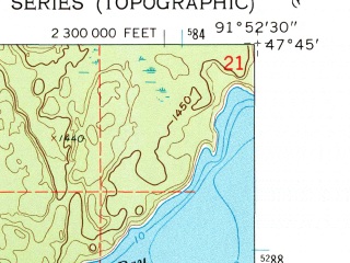 Reduced fragment of topographic map en--usgs--024k--002034--(1962)--N047-45-00_W092-00-00--N047-37-30_W091-52-30; towns and cities Babbitt
