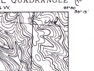 Reduced fragment of topographic map en--usgs--024k--002122--(1957)--N038-15-00_W092-37-30--N038-07-30_W092-30-00; towns and cities Bagnell, Lakeside