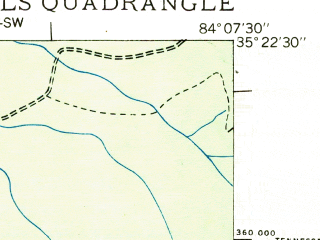 Reduced fragment of topographic map en--usgs--024k--002226--(1933)--N035-22-30_W084-15-00--N035-15-00_W084-07-30