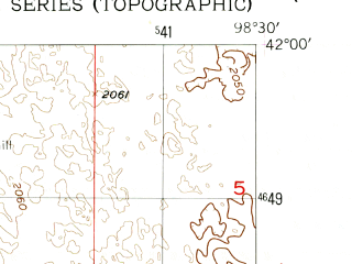Reduced fragment of topographic map en--usgs--024k--002520--(1954)--N042-00-00_W098-37-30--N041-52-30_W098-30-00; towns and cities Bartlett
