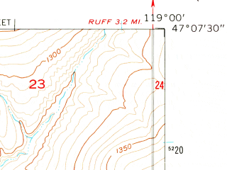Reduced fragment of topographic map en--usgs--024k--002579--(1956)--N047-07-30_W119-07-30--N047-00-00_W119-00-00
