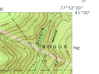 Reduced fragment of topographic map en--usgs--024k--002824--(1962)--N041-00-00_W078-00-00--N040-52-30_W077-52-30; towns and cities Unionville