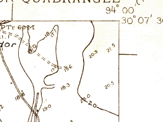 Reduced fragment of topographic map en--usgs--024k--002906--(1926)--N030-07-30_W094-07-30--N030-00-00_W094-00-00; towns and cities Rose City
