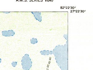 Reduced fragment of topographic map en--usgs--024k--003025--(1947)--N027-22-30_W082-30-00--N027-15-00_W082-22-30; towns and cities Sarasota Springs, South Gate Ridge, Bee Ridge, Fruitville, The Meadows