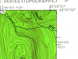 Reduced fragment of topographic map en--usgs--024k--003086--(1949)--N042-22-30_W072-30-00--N042-15-00_W072-22-30; towns and cities Belchertown