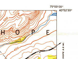 Reduced fragment of topographic map en--usgs--024k--003269--(1953)--N040-52-30_W075-07-30--N040-45-00_W075-00-00; towns and cities Belvidere, Brass Castle