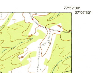 Reduced fragment of topographic map en--usgs--024k--003362--(1950)--N037-00-00_W076-37-30--N036-52-30_W076-30-00; towns and cities Smithfield