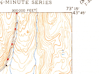 Reduced fragment of topographic map en--usgs--024k--003367--(1948)--N043-45-00_W073-22-30--N043-37-30_W073-15-00