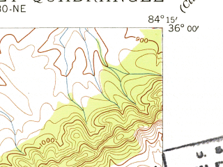 Reduced fragment of topographic map en--usgs--024k--003540--(1941)--N036-00-00_W084-22-30--N035-52-30_W084-15-00; towns and cities Oak Ridge