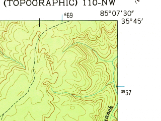 Reduced fragment of topographic map en--usgs--024k--003931--(1956)--N035-45-00_W085-15-00--N035-37-30_W085-07-30