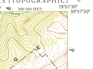 Reduced fragment of topographic map en--usgs--024k--004060--(1947)--N039-37-30_W079-15-00--N039-30-00_W079-07-30