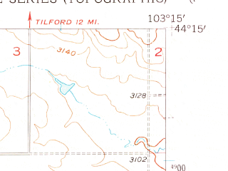Reduced fragment of topographic map en--usgs--024k--004228--(1953)--N044-15-00_W103-22-30--N044-07-30_W103-15-00; towns and cities Blackhawk