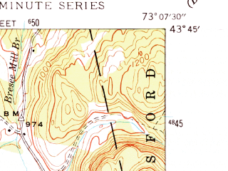 Reduced fragment of topographic map en--usgs--024k--004758--(1944)--N043-45-00_W073-15-00--N043-37-30_W073-07-30