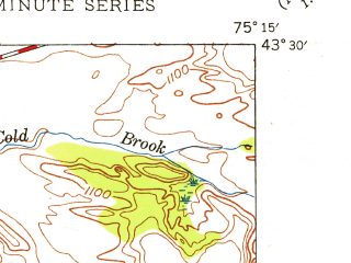 Reduced fragment of topographic map en--usgs--024k--004865--(1945)--N043-30-00_W075-22-30--N043-22-30_W075-15-00; towns and cities Boonville