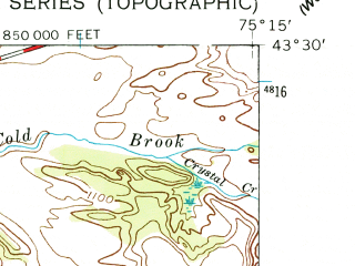 Reduced fragment of topographic map en--usgs--024k--004865--(1955)--N043-30-00_W075-22-30--N043-22-30_W075-15-00; towns and cities Boonville
