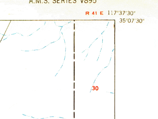 Reduced fragment of topographic map en--usgs--024k--004906--(1947)--N035-07-30_W117-45-00--N035-00-00_W117-37-30; towns and cities Boron