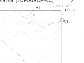 Reduced fragment of topographic map en--usgs--024k--004908--(1960)--N033-15-00_W116-15-00--N033-07-30_W116-07-30