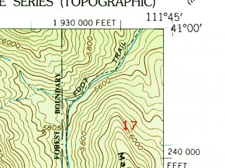 Reduced fragment of topographic map en--usgs--024k--005003--(1952)--N041-00-00_W111-52-30--N040-52-30_W111-45-00; towns and cities Bountiful