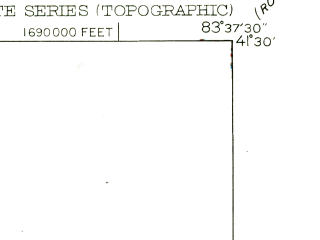 Reduced fragment of topographic map en--usgs--024k--005076--(1952)--N041-30-00_W083-45-00--N041-22-30_W083-37-30; towns and cities Bowling Green, Haskins, Tontogany, Waterville
