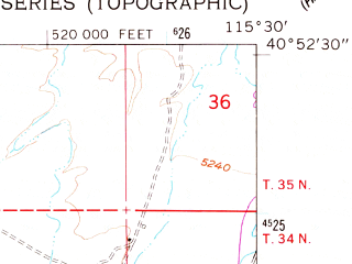 Reduced fragment of topographic map en--usgs--024k--005136--(1962)--N040-52-30_W115-37-30--N040-45-00_W115-30-00