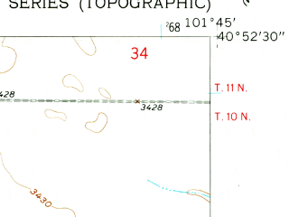 Reduced fragment of topographic map en--usgs--024k--005273--(1961)--N040-52-30_W101-52-30--N040-45-00_W101-45-00