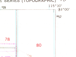 Reduced fragment of topographic map en--usgs--024k--005306--(1957)--N033-00-00_W115-37-30--N032-52-30_W115-30-00; towns and cities Brawley