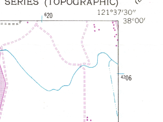 Reduced fragment of topographic map en--usgs--024k--005360--(1954)--N038-00-00_W121-45-00--N037-52-30_W121-37-30; towns and cities Oakley, Brentwood